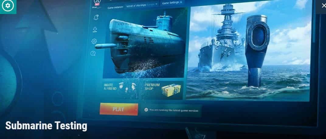 World of Warships: Submarine Testing