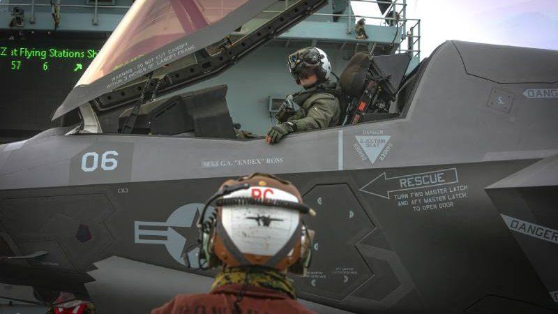 Marine F-35 Squadron Details Training Deployment Aboard HMS Queen Elizabeth