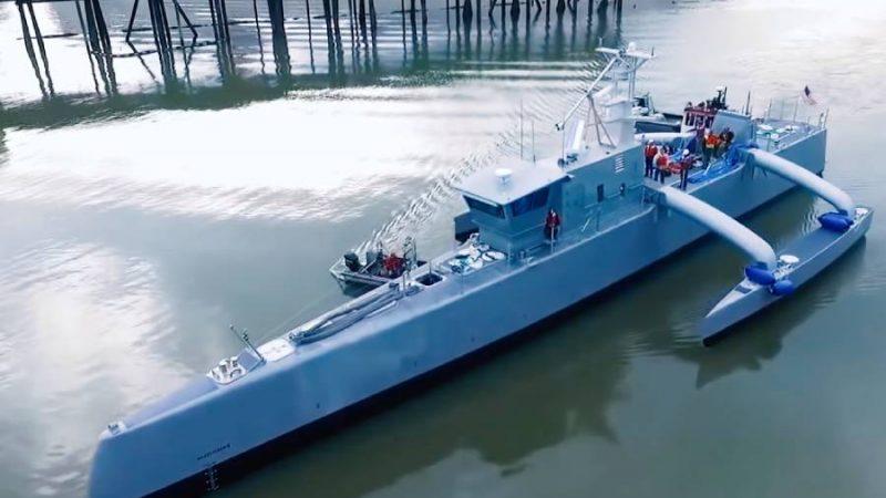 U.S. Navy's Testing World's Largest Anti-Submarine Robot Ship – Meet the Sea Hunter Ship