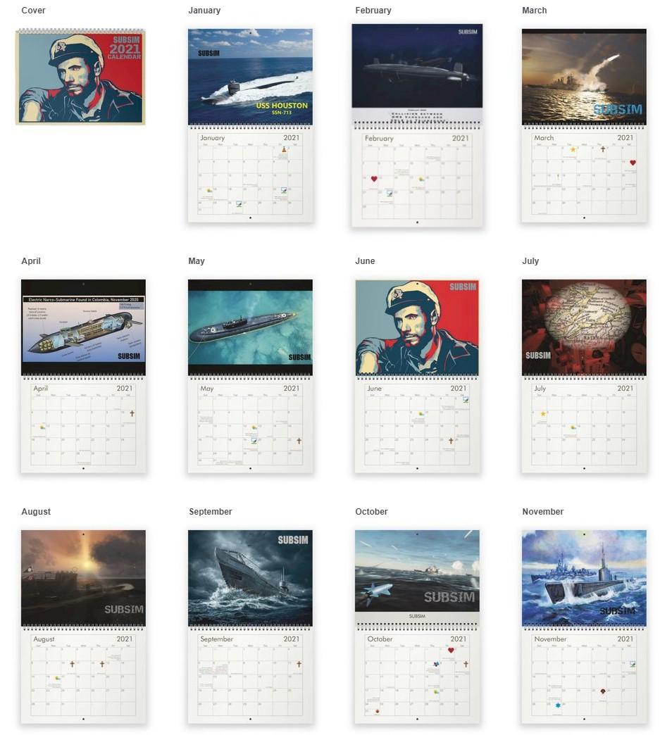 2021 SUBSIM Patrol Calendars are here!