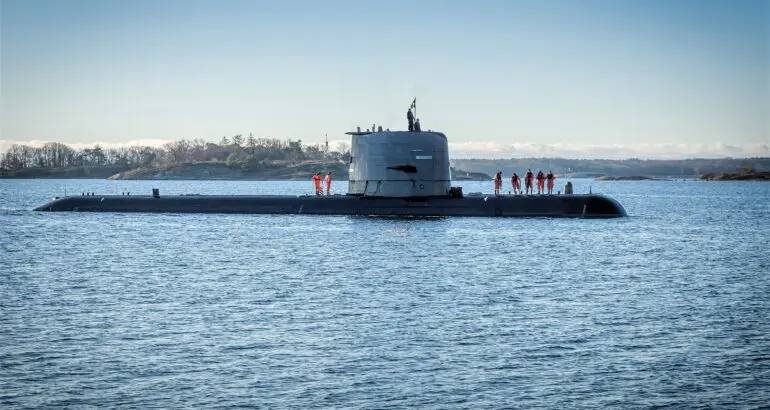 Saab Delivers 2nd Upgraded Gotland-Class Submarine To Sweden