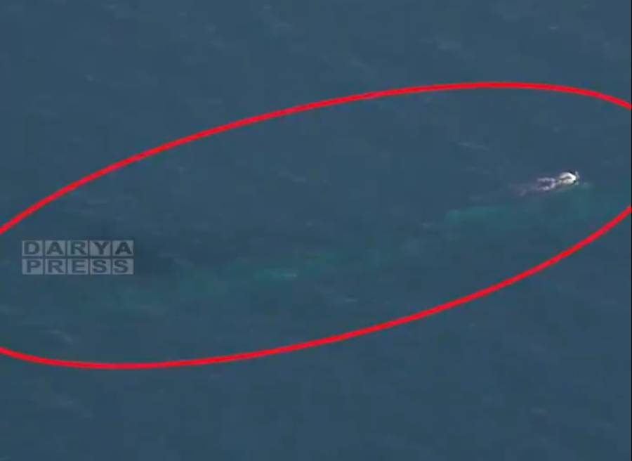U.S. Navy Ohio Class Submarine Filmed By Iranian Navy While Submerged