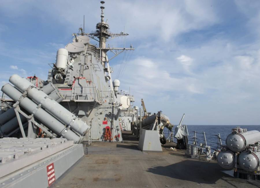 Navy arms destroyers with new drone, aircraft and missile defenses