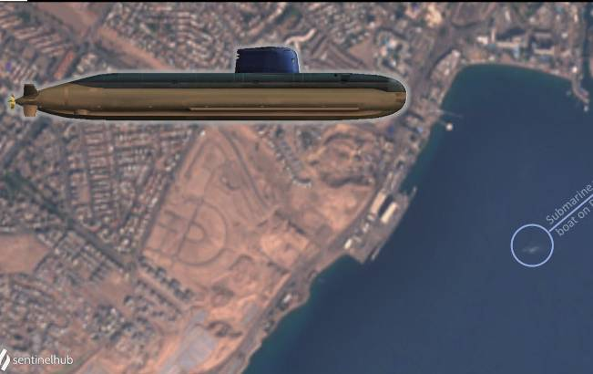 Israeli Submarine In Rare Deployment South Of Suez