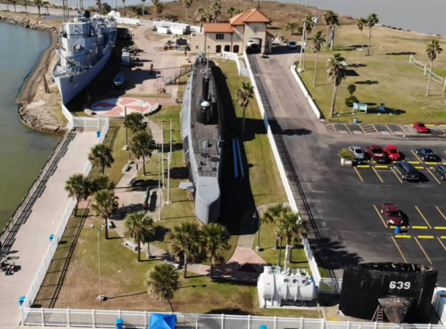 USS Cavalla from the sky: drone report