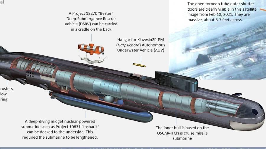 New Details of Russian Belgorod 'Doomsday' Submarine Revealed
