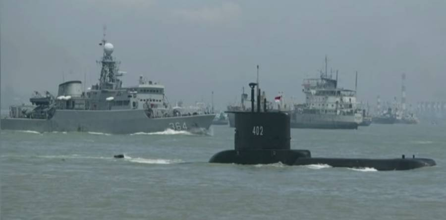 Indonesian navy submarine found split into three on sea bed