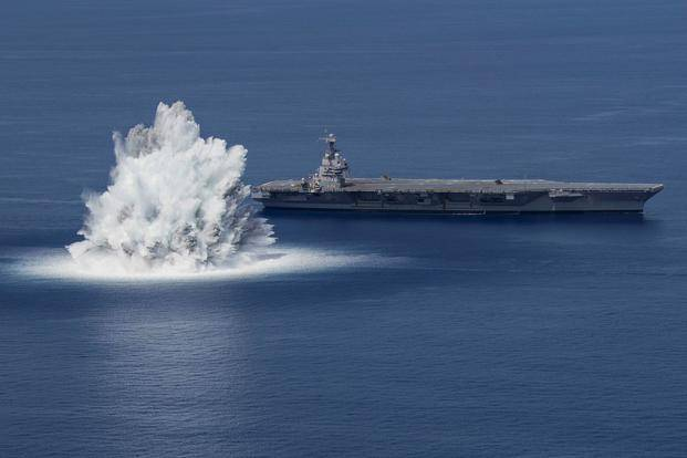 Explosion Triggered Near New US Navy Aircraft Carrier During Shock Trials Registered as 3.9 Magnitude Earthquake