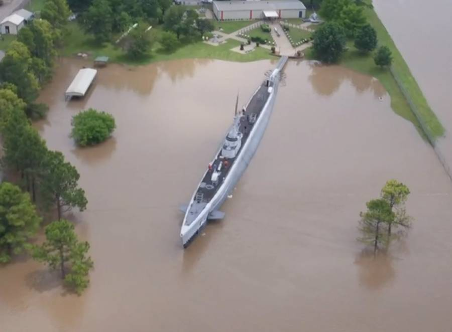 USS Batfish to be floated, moved back into position after 2019 flood almost took her away