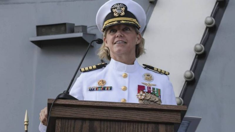 This Navy captain is now the first woman commanding a nuclear aircraft carrier