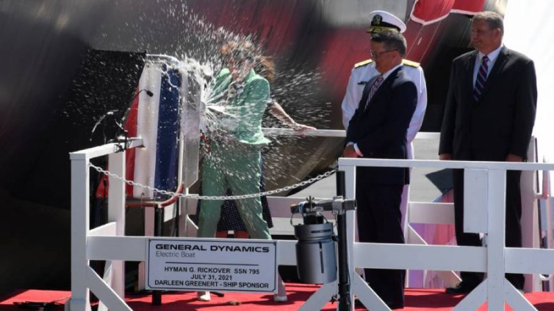 Navy christens 2nd submarine in honor of Adm. Rickover