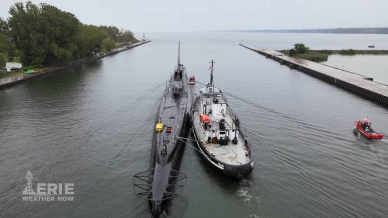 USS Cod Departs Dry Dock in Erie, PA for Cleveland