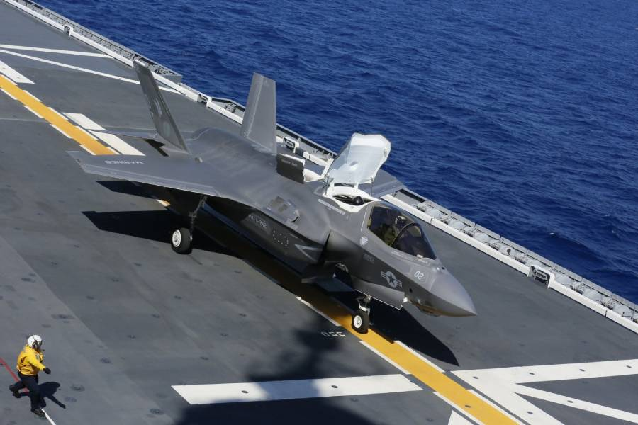 VIDEO: Japan's Largest Warship Launches U.S. Marine F-35s; First Fighters to Fly from Japanese Ship Since WWII